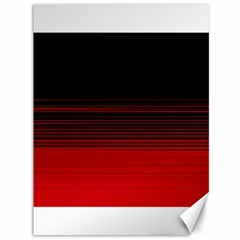 Abstract Of Red Horizontal Lines Canvas 36  x 48