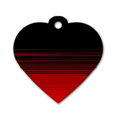 Abstract Of Red Horizontal Lines Dog Tag Heart (two Sides)