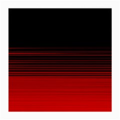 Abstract Of Red Horizontal Lines Medium Glasses Cloth (2 Side)