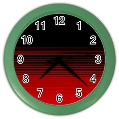 Abstract Of Red Horizontal Lines Color Wall Clocks