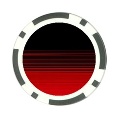Abstract Of Red Horizontal Lines Poker Chip Card Guard