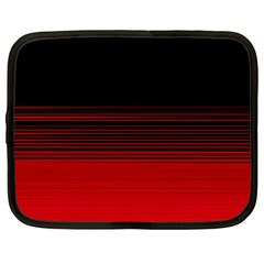 Abstract Of Red Horizontal Lines Netbook Case (large)