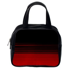 Abstract Of Red Horizontal Lines Classic Handbags (one Side)