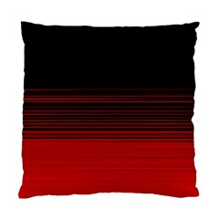 Abstract Of Red Horizontal Lines Standard Cushion Case (one Side)