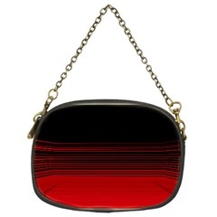 Abstract Of Red Horizontal Lines Chain Purses (two Sides)