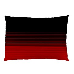 Abstract Of Red Horizontal Lines Pillow Case