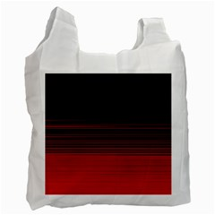 Abstract Of Red Horizontal Lines Recycle Bag (two Side)