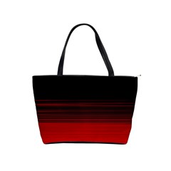 Abstract Of Red Horizontal Lines Shoulder Handbags