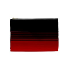 Abstract Of Red Horizontal Lines Cosmetic Bag (medium)