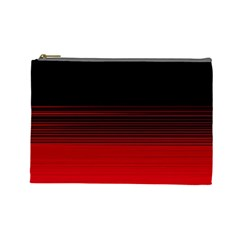 Abstract Of Red Horizontal Lines Cosmetic Bag (large)