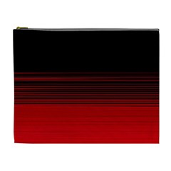 Abstract Of Red Horizontal Lines Cosmetic Bag (xl)