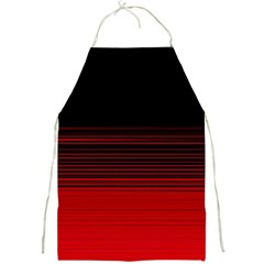 Abstract Of Red Horizontal Lines Full Print Aprons