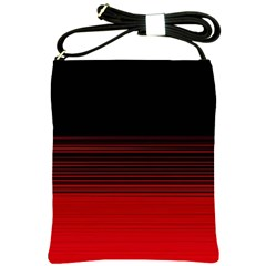 Abstract Of Red Horizontal Lines Shoulder Sling Bags