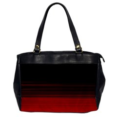 Abstract Of Red Horizontal Lines Office Handbags
