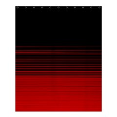 Abstract Of Red Horizontal Lines Shower Curtain 60  X 72  (medium)