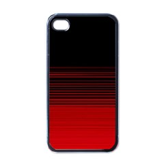 Abstract Of Red Horizontal Lines Apple Iphone 4 Case (black)