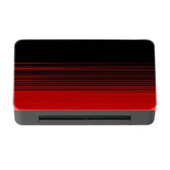 Abstract Of Red Horizontal Lines Memory Card Reader With Cf