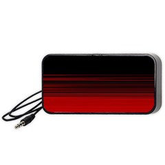 Abstract Of Red Horizontal Lines Portable Speaker (black)