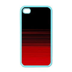 Abstract Of Red Horizontal Lines Apple Iphone 4 Case (color)