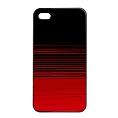 Abstract Of Red Horizontal Lines Apple Iphone 4/4s Seamless Case (black)