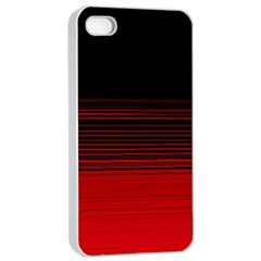 Abstract Of Red Horizontal Lines Apple Iphone 4/4s Seamless Case (white)