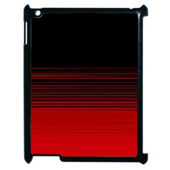 Abstract Of Red Horizontal Lines Apple Ipad 2 Case (black)