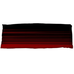 Abstract Of Red Horizontal Lines Body Pillow Case Dakimakura (two Sides)