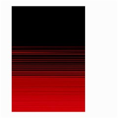 Abstract Of Red Horizontal Lines Small Garden Flag (two Sides)