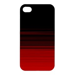 Abstract Of Red Horizontal Lines Apple Iphone 4/4s Premium Hardshell Case