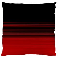 Abstract Of Red Horizontal Lines Large Cushion Case (one Side)