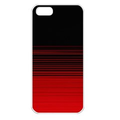 Abstract Of Red Horizontal Lines Apple Iphone 5 Seamless Case (white)
