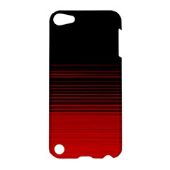 Abstract Of Red Horizontal Lines Apple Ipod Touch 5 Hardshell Case