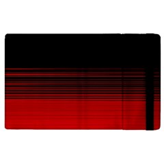 Abstract Of Red Horizontal Lines Apple Ipad 2 Flip Case