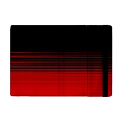 Abstract Of Red Horizontal Lines Apple Ipad Mini Flip Case