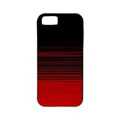 Abstract Of Red Horizontal Lines Apple Iphone 5 Classic Hardshell Case (pc+silicone)