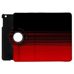 Abstract Of Red Horizontal Lines Apple Ipad Mini Flip 360 Case