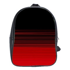 Abstract Of Red Horizontal Lines School Bags (xl)