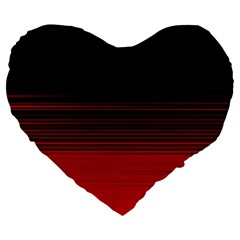 Abstract Of Red Horizontal Lines Large 19  Premium Heart Shape Cushions