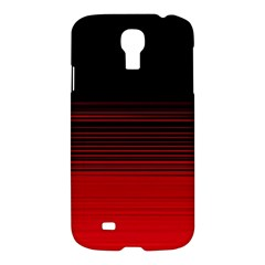 Abstract Of Red Horizontal Lines Samsung Galaxy S4 I9500/i9505 Hardshell Case