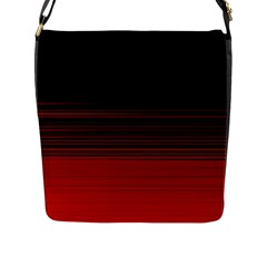 Abstract Of Red Horizontal Lines Flap Messenger Bag (l)
