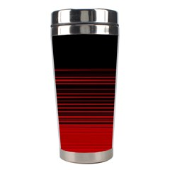 Abstract Of Red Horizontal Lines Stainless Steel Travel Tumblers