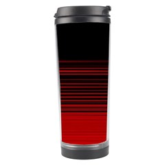 Abstract Of Red Horizontal Lines Travel Tumbler