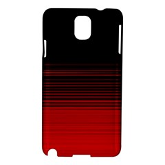Abstract Of Red Horizontal Lines Samsung Galaxy Note 3 N9005 Hardshell Case