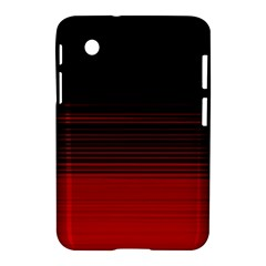 Abstract Of Red Horizontal Lines Samsung Galaxy Tab 2 (7 ) P3100 Hardshell Case
