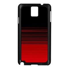 Abstract Of Red Horizontal Lines Samsung Galaxy Note 3 N9005 Case (black)