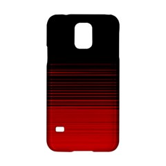 Abstract Of Red Horizontal Lines Samsung Galaxy S5 Hardshell Case