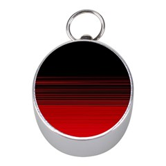 Abstract Of Red Horizontal Lines Mini Silver Compasses