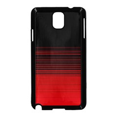 Abstract Of Red Horizontal Lines Samsung Galaxy Note 3 Neo Hardshell Case (black)