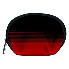 Abstract Of Red Horizontal Lines Accessory Pouches (medium)