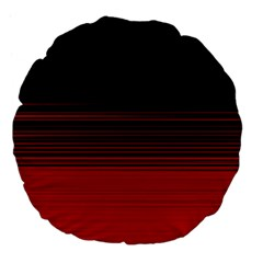 Abstract Of Red Horizontal Lines Large 18  Premium Flano Round Cushions